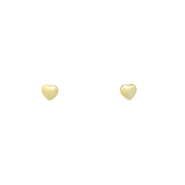 Sterling Silver Gold Heart Studs