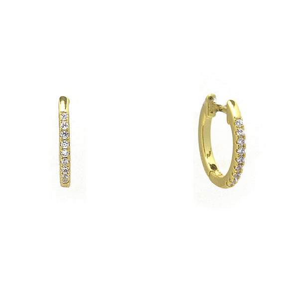 Gold Cubic Zirconia Hoop Earrings