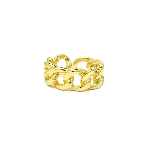 Gold Adjustable Chain Ring