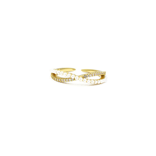 Gold CZ Adjustable X Ring