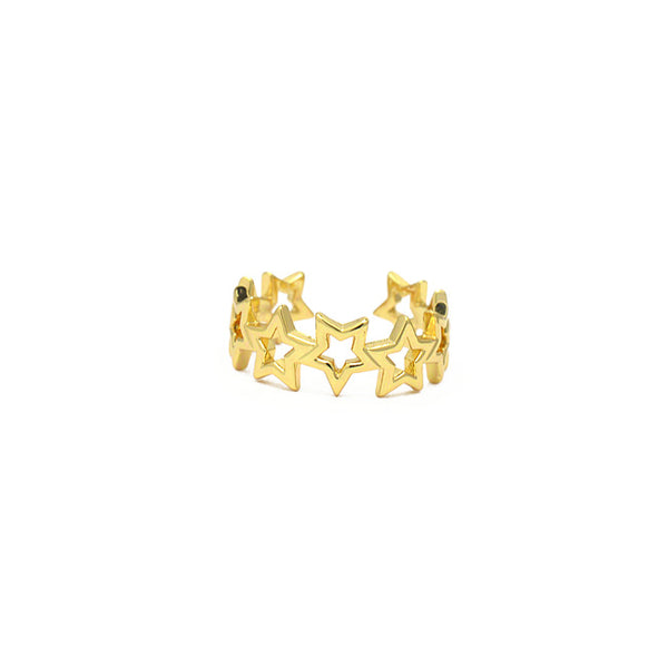 Gold Adjustable Star Ring