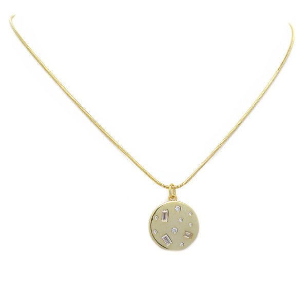 gold filled cz necklace