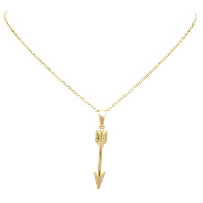 gold filled arrow necklace