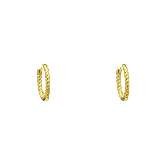 Sterling Silver Gold Plated Huggie Earring
