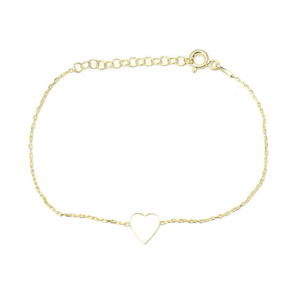 Sterling Silver Gold Plated White Enamel Bracelet