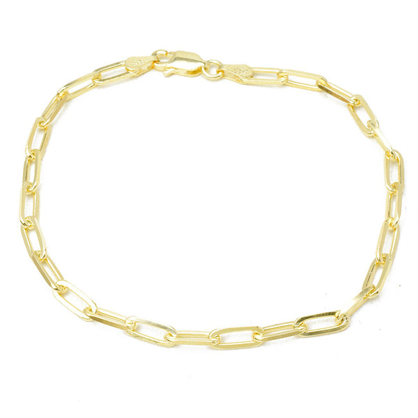 Sterling Silver Gold Plated Linked Bracelet