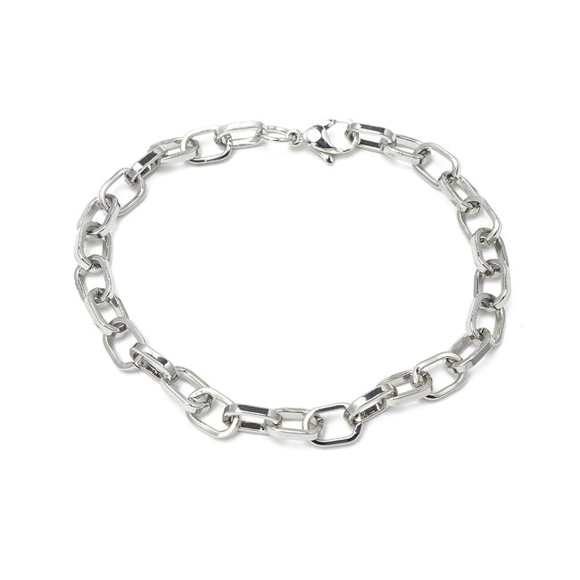 Silver Linked Chain Bracelet
