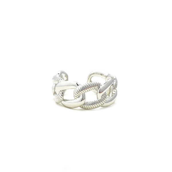 Silver Chain Adjustable Ring