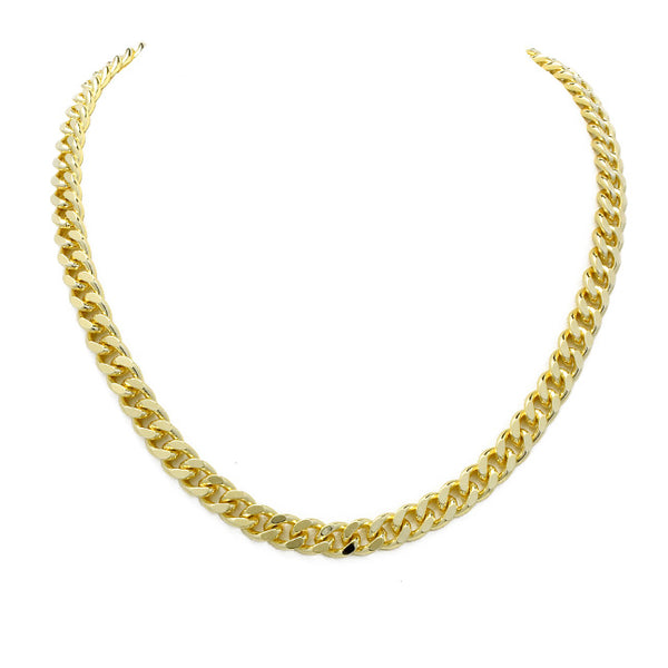 Gold Filled Cuban Linked Chain Necklace
