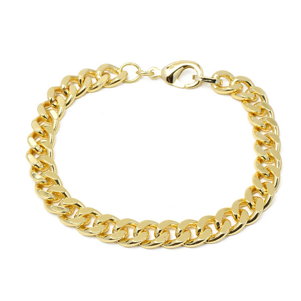 Gold Filled Cuban Linked Chain Bracelet