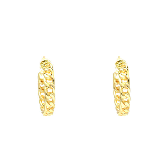 Gold Filled Chain Hoop Earring