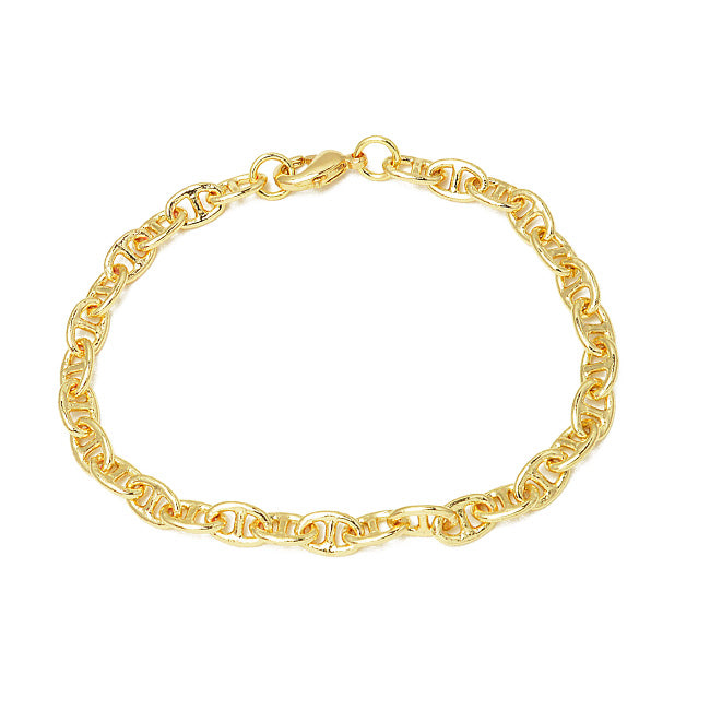 Gold Linked Chain Bracelet