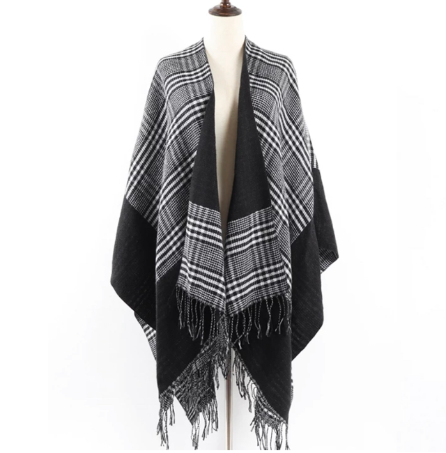 Black Glen Check Cape