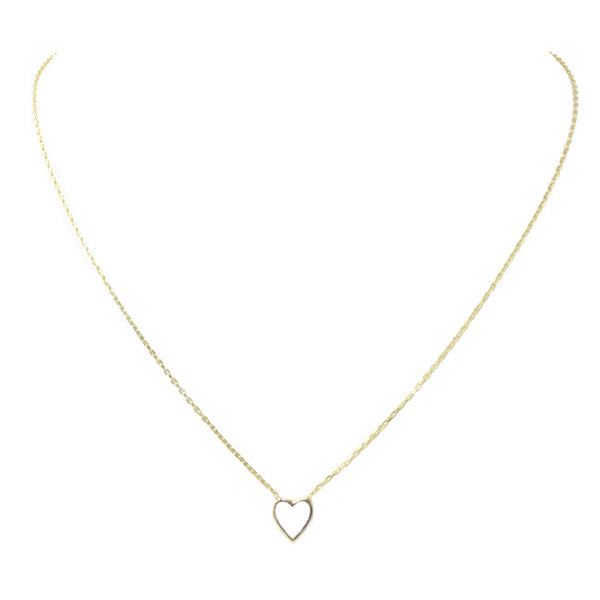 Sterling Silver Gold Plated Heart Pendant Necklace