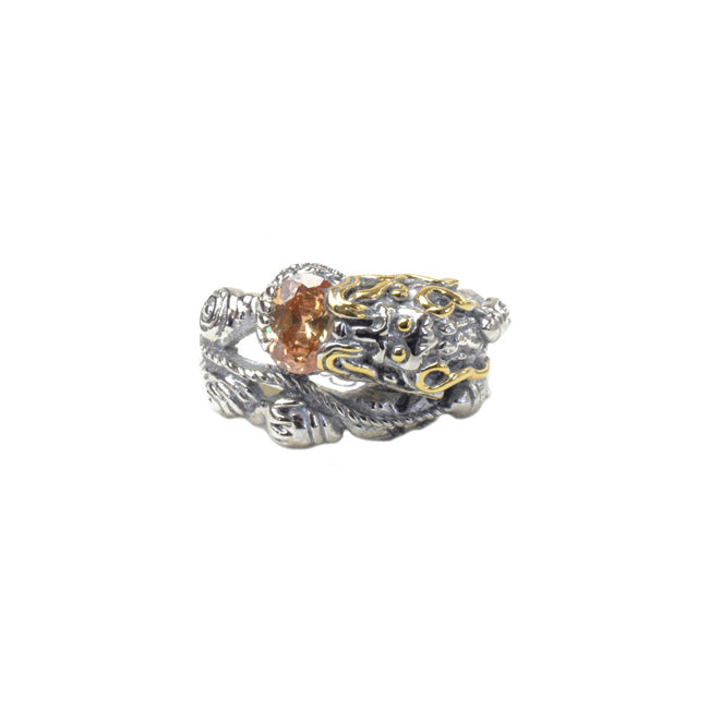 Two Tone Cubic Zirconia Band Ring