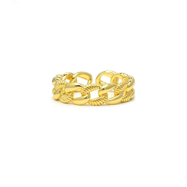 Gold Link Chain Band Ring