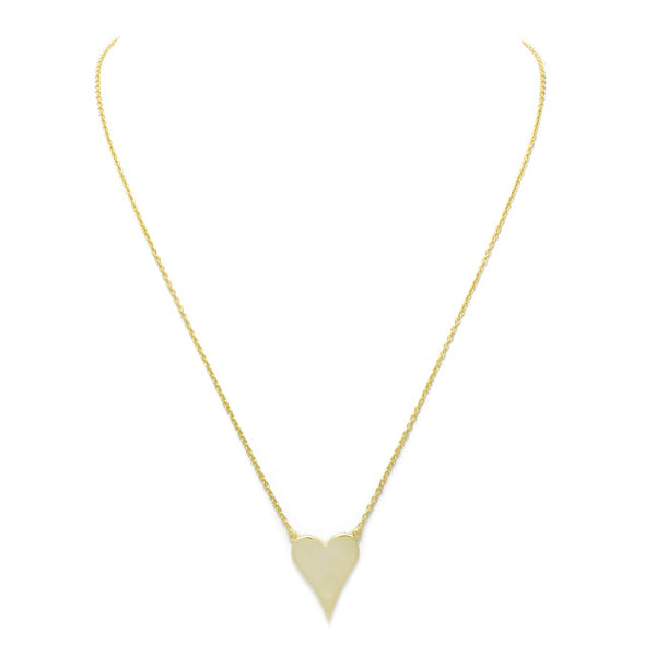 sterling silver gold heart necklace
