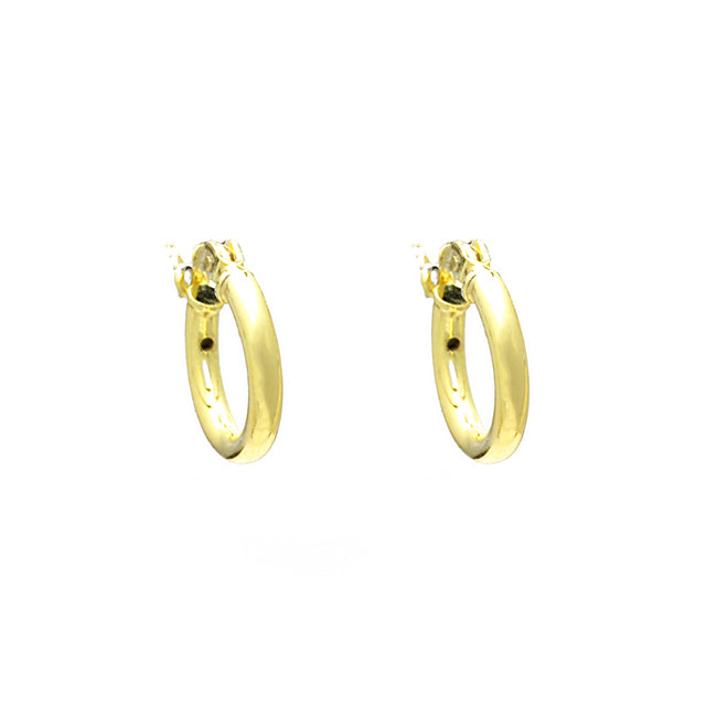Sterling Silver Gold Plated Hollow Hoop Earring