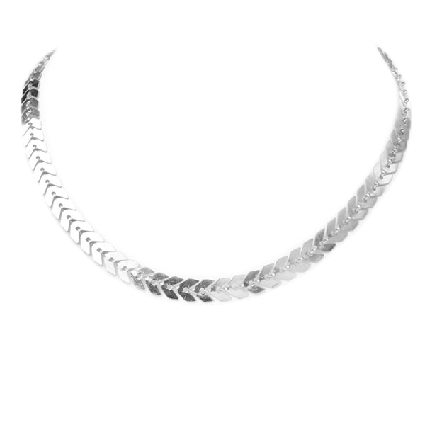 Silver Arrow Choker Necklace