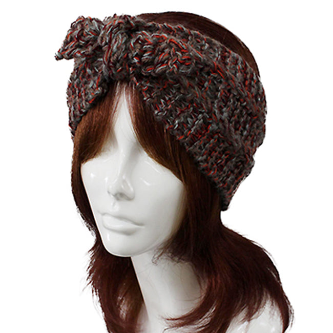Ribbon Deco Knit Headwrap
