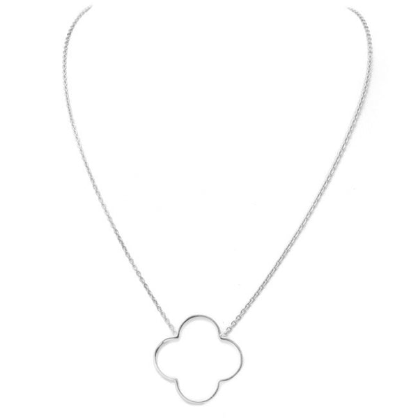 Silver Clover Pendant Necklace