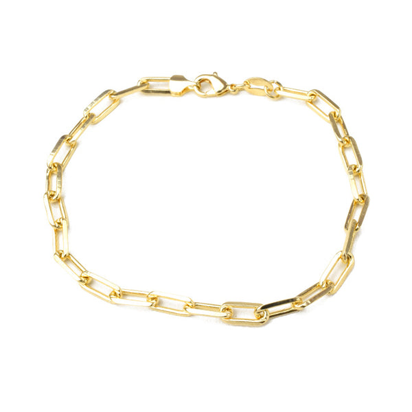 gold filled chain bracelet