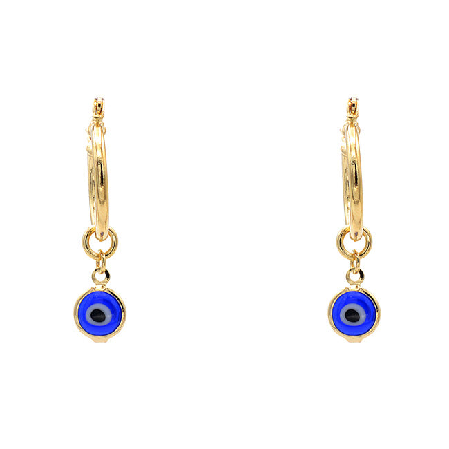 Gold Filled Evil Eye Dangle Earring