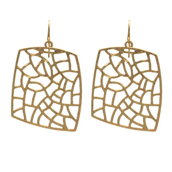 Gold Filigree Dangle Earring
