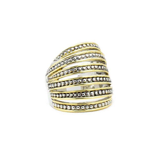 Two Tone Multi Strand Ring