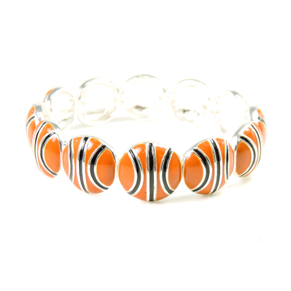 Basketball Theme Stretch Bracelet