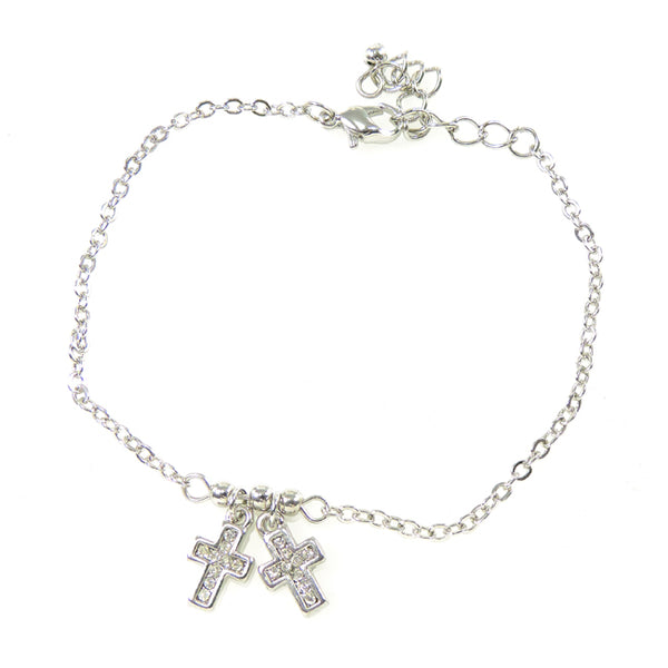 Crystal Cross Linked Bracelet