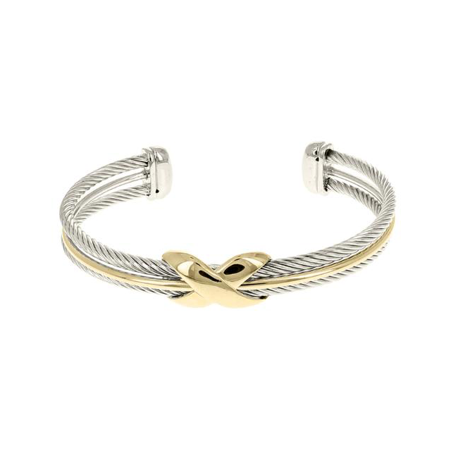 Twisted Cable Cuff X Bracelet