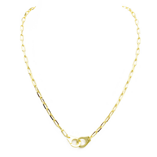 Gold Plated Linked Chain Necklace