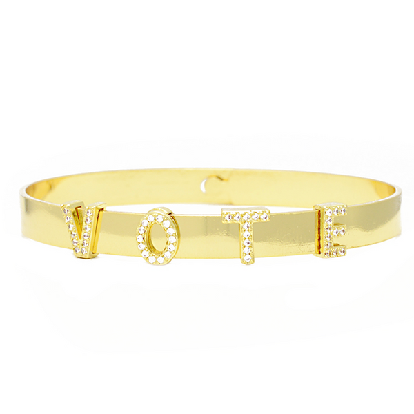 gold cz vote bangle