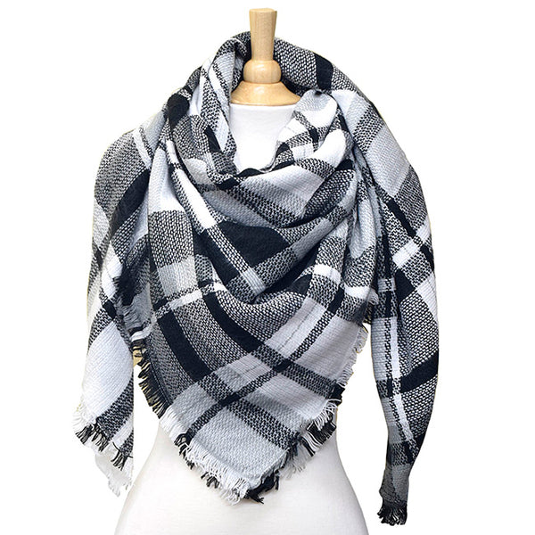 Black & White Square Blanket Scarf