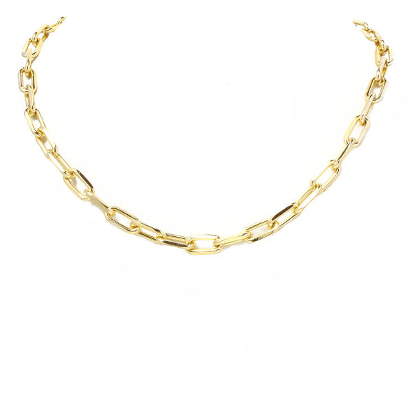 Gold Linked Chain Necklace