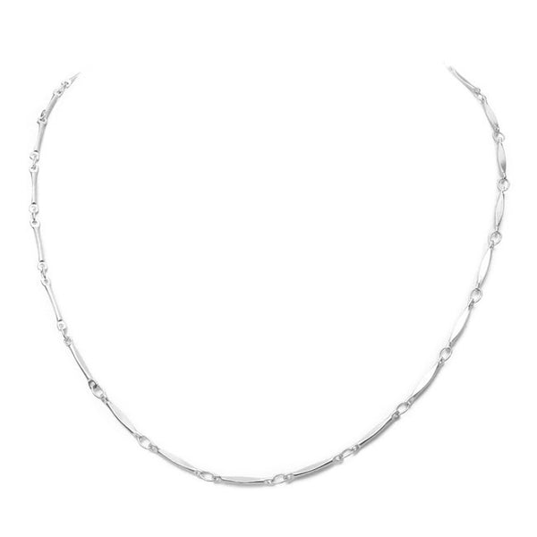 Silver Linked Choker Necklace