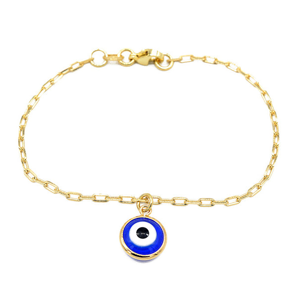 Gold Filled Evil Eye Bracelet