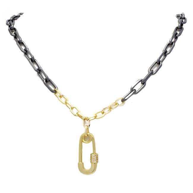 cz chain link necklace