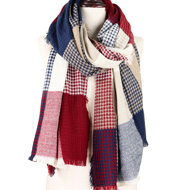 Plaid Checkered Oblong Scarf