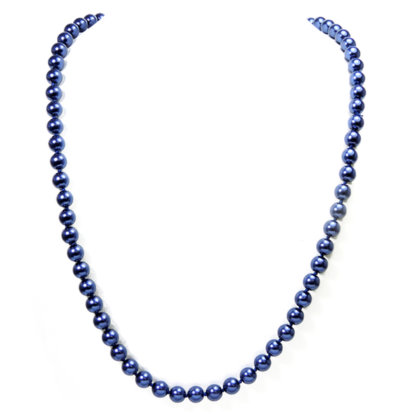 Pearl Blue Violet Necklace