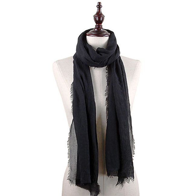Black Fashion Oblong Scarf