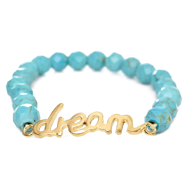 Semi Precious Stone Stretch Dream Bracelet