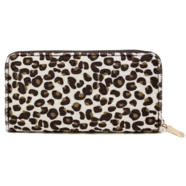 Animal Print Faux Fur Wallet