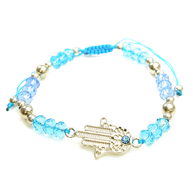 Hamsa Adjustable Beaded Bracelet