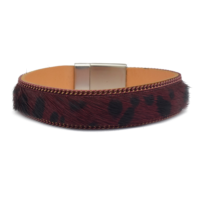Animal Print Leather Magnetic Bracelet