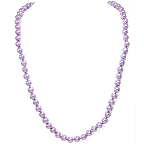 Amethyst Pearls Necklace