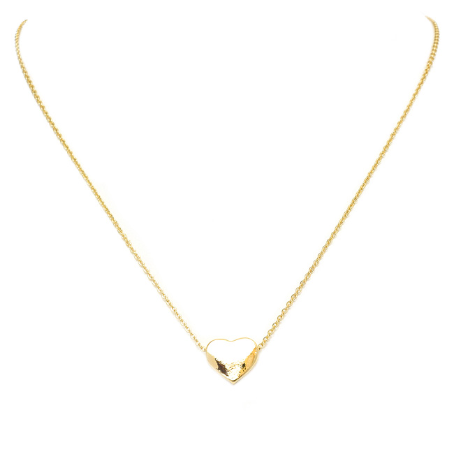"16"" Gold tone Small Heart Pendant Necklace"