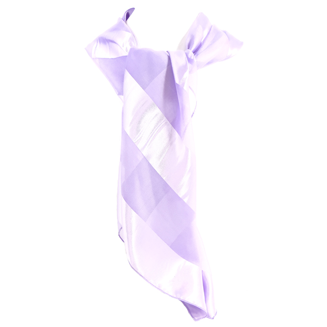 Satin Stripe Square Scarf