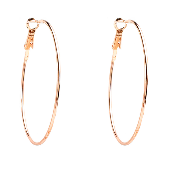 Thin Rose Gold Small Hoop Earrings